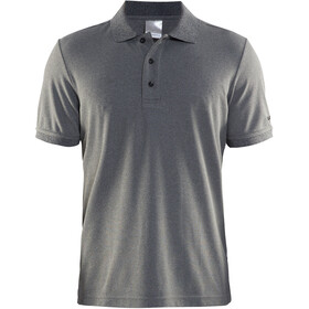 Craft Classic Polo Pique Fietsshirt Korte Mouwen Heren, dark grey melange